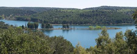 Lagunas de Ruidera :: Panorámica de Laguna Colgada