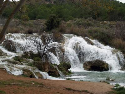 Otra imagen más de la cascada laguna Lengua - laguna Salvadora