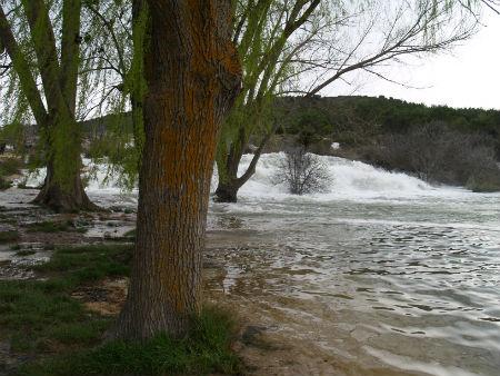 Subida de las aguas. Lagunas de Ruidera